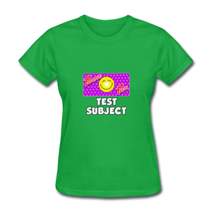 Positive Patch Test Subject - bright green