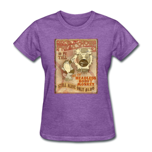 Retro Freakshow Poster - purple heather