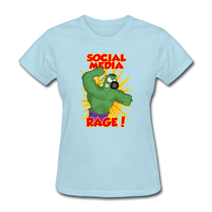 Social Media Rage - powder blue