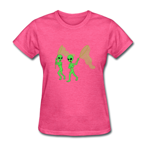 Space Aliens Hunting - heather pink