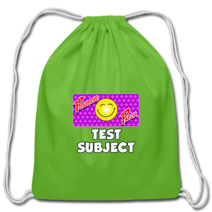 Positive Patch Test Subject - Cotton Drawstring Bag - clover