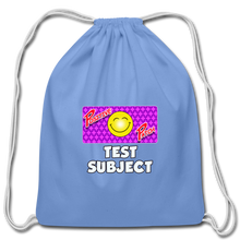 Load image into Gallery viewer, Positive Patch Test Subject - Cotton Drawstring Bag - carolina blue