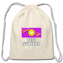 Load image into Gallery viewer, Positive Patch Test Subject - Cotton Drawstring Bag - natural