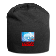 Load image into Gallery viewer, Climate Change - Jersey Beanie - black
