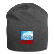 Load image into Gallery viewer, Climate Change - Jersey Beanie - charcoal gray