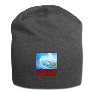 Climate Change - Jersey Beanie - charcoal gray