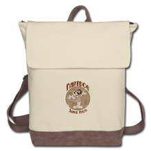 Load image into Gallery viewer, Retro Rantdog Since 1909 - Canvas Backpack - ivory/brown