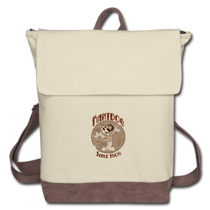 Retro Rantdog Since 1909 - Canvas Backpack - ivory/brown