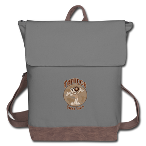 Retro Rantdog Since 1909 - Canvas Backpack - gray/brown