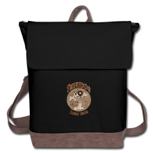 Load image into Gallery viewer, Retro Rantdog Since 1909 - Canvas Backpack - black/brown