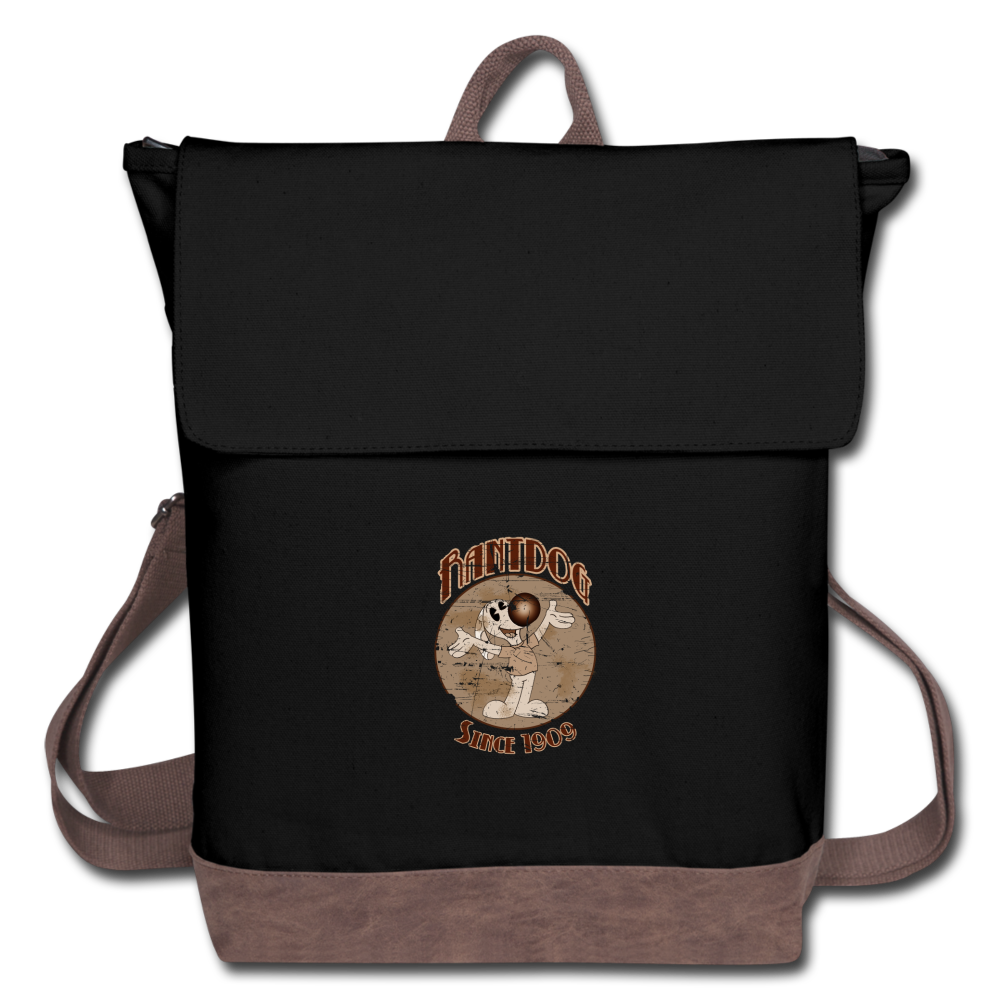Retro Rantdog Since 1909 - Canvas Backpack - black/brown