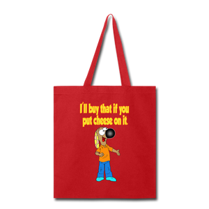 Rantdog Put Cheese On It - Tote Bag - red