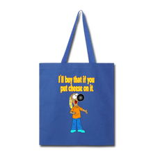 Load image into Gallery viewer, Rantdog Put Cheese On It - Tote Bag - royal blue
