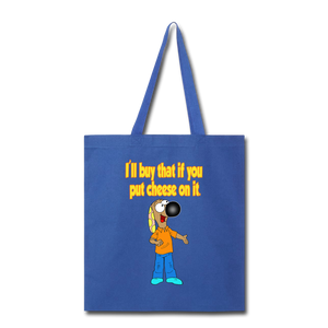 Rantdog Put Cheese On It - Tote Bag - royal blue
