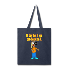 Load image into Gallery viewer, Rantdog Put Cheese On It - Tote Bag - navy