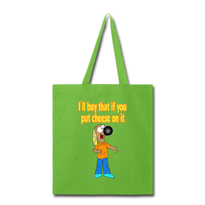 Rantdog Put Cheese On It - Tote Bag - lime green