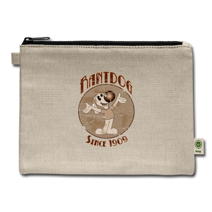 Retro Rantdog Since 1909 Sepia - Carry All Pouch - natural