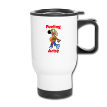 Load image into Gallery viewer, Rantdog Feeling Artsy - Travel Mug - white