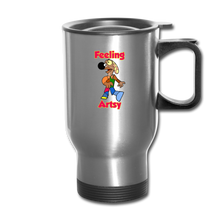 Load image into Gallery viewer, Rantdog Feeling Artsy - Travel Mug - silver