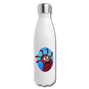 It's Not About Larry Mumba - Insulated Stainless Steel Water Bottle - white