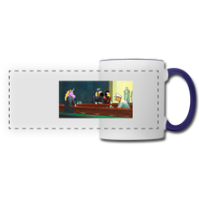 Load image into Gallery viewer, Panoramic Mug - white/cobalt blue