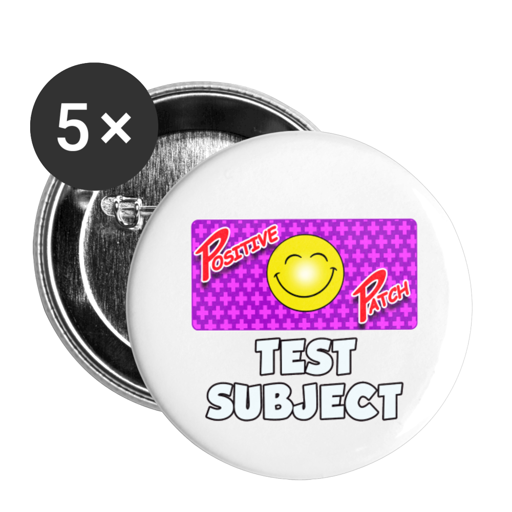 Positive Patch Test Subject - Buttons large 2.2'' (5-pack) - white