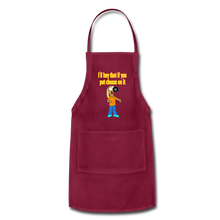 Load image into Gallery viewer, Rantdog Put Cheese On It - Adjustable Apron - burgundy