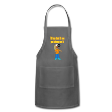 Load image into Gallery viewer, Rantdog Put Cheese On It - Adjustable Apron - charcoal