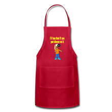 Load image into Gallery viewer, Rantdog Put Cheese On It - Adjustable Apron - red