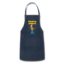 Load image into Gallery viewer, Rantdog Put Cheese On It - Adjustable Apron - navy
