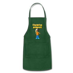 Rantdog Put Cheese On It - Adjustable Apron - forest green