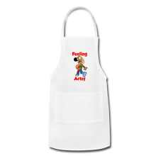 Load image into Gallery viewer, Rantdog Feeling Artsy - Adjustable Apron - white