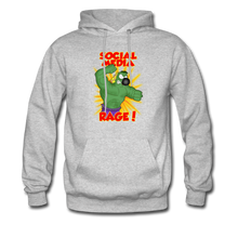 Load image into Gallery viewer, Social Media Rage - Men's Hoodie - heather gray