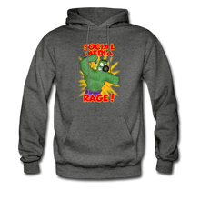 Load image into Gallery viewer, Social Media Rage - Men's Hoodie - charcoal gray