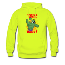 Load image into Gallery viewer, Social Media Rage - Men's Hoodie - safety green