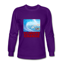Load image into Gallery viewer, Climate Change - Men's Long Sleeve T-Shirt - purple