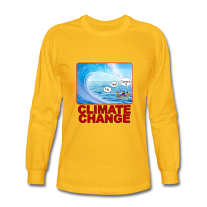 Climate Change - Men's Long Sleeve T-Shirt - gold