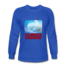Load image into Gallery viewer, Climate Change - Men's Long Sleeve T-Shirt - royal blue