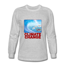 Load image into Gallery viewer, Climate Change - Men's Long Sleeve T-Shirt - heather gray