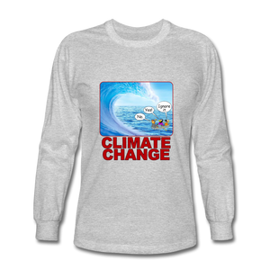 Climate Change - Men's Long Sleeve T-Shirt - heather gray
