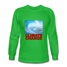 Load image into Gallery viewer, Climate Change - Men's Long Sleeve T-Shirt - bright green