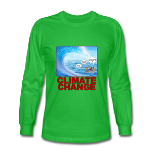 Climate Change - Men's Long Sleeve T-Shirt - bright green