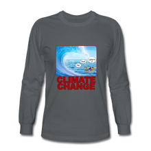 Load image into Gallery viewer, Climate Change - Men's Long Sleeve T-Shirt - charcoal