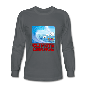 Climate Change - Men's Long Sleeve T-Shirt - charcoal