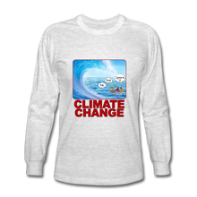 Load image into Gallery viewer, Climate Change - Men's Long Sleeve T-Shirt - light heather gray
