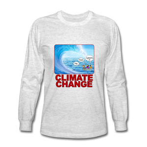 Climate Change - Men's Long Sleeve T-Shirt - light heather gray