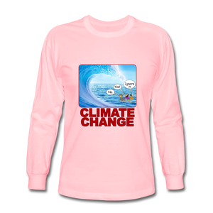 Climate Change - Men's Long Sleeve T-Shirt - pink