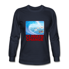 Load image into Gallery viewer, Climate Change - Men's Long Sleeve T-Shirt - navy