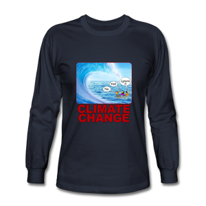 Climate Change - Men's Long Sleeve T-Shirt - navy