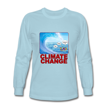 Load image into Gallery viewer, Climate Change - Men's Long Sleeve T-Shirt - powder blue